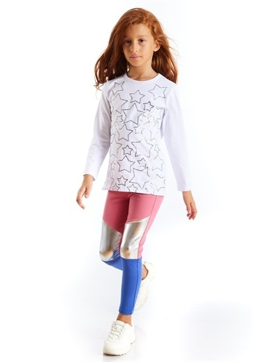 Colorinas Colorinas Color Block Indigo  Kız Çocuk Tayt İndigo